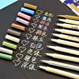 Set of 10 Colors Metallic Marker Pens Gold Silver White Pink Ink Card Making NEW by VStoy
