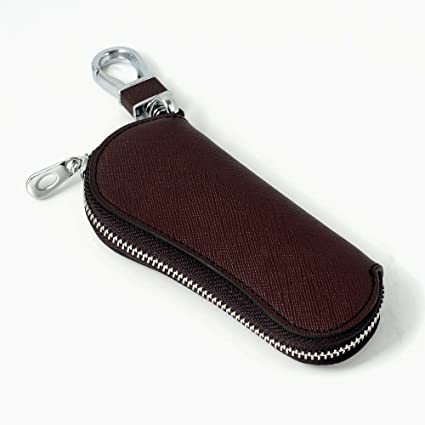 Coche Caso clave, piel auténtica coche Smart Key cadena Coin ...