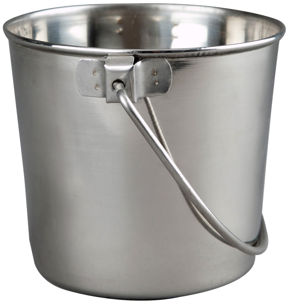 Advance Pet Products Heavy Stainless Steel Round Bucket, 9-Quart