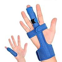 Doact Fingerschiene Mittelfinger Finger Orthese, Fit alle Finger, bei Sehnenentzündung und Kapselverletzung Verstellbare…