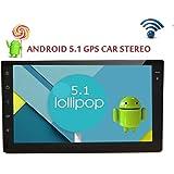 Eincar 2din Autoradio 7 pulgadas Android 5.1 tableta del coche Universal Stereo Autoradio la radio de coche navegador GPS Ninguno-DVD de coche GPS / Bluetooth / SD / USB / FM / AM Radio HD capacitiva de la pantalla tš¢ctil estšŠreo en el tablero de navegaciš®n WiFi unidad principal
