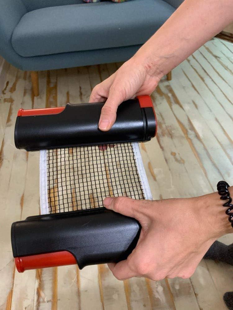Ping Pong Net para Entrenamiento Abrazaderas Red de Tenis de Mesa Red Ajustable de Ping Pong Repuesto Port/átil Retr/áctil Longitud Ajustable Table Tennis Net