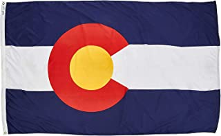 product image for Annin Flagmakers Model 140680 Colorado Flag Nylon SolarGuard NYL-Glo, 5x8 ft, 100% Made in USA to Official State Design Specifications