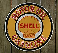 Shell Gasoline Motor Oil Retro Vintage Tin Sign - 12x12 , 12x12