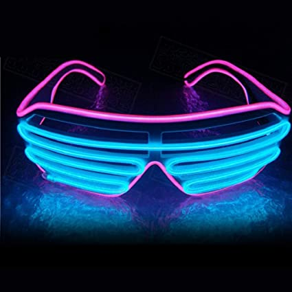 LED Glow EL Glasses Shades Light Up Flashing Blink Glasses Bar Party Rave