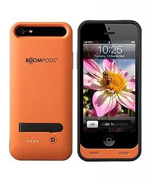 Boompods Powercase - Carcasa con batería para Apple iPhone 5/5S/5SE, Color Naranja