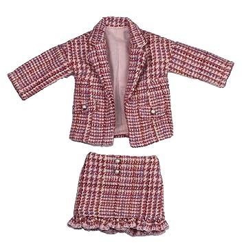 Amazon.es: B Blesiya Traje de Vestir a Cuadros Chaqueta con Falda ...