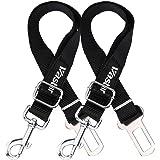 Vastar 2 Packs Adjustable Pet Dog Cat Car Seat Belt Safety Leads Vehicle Seatbelt Harness
