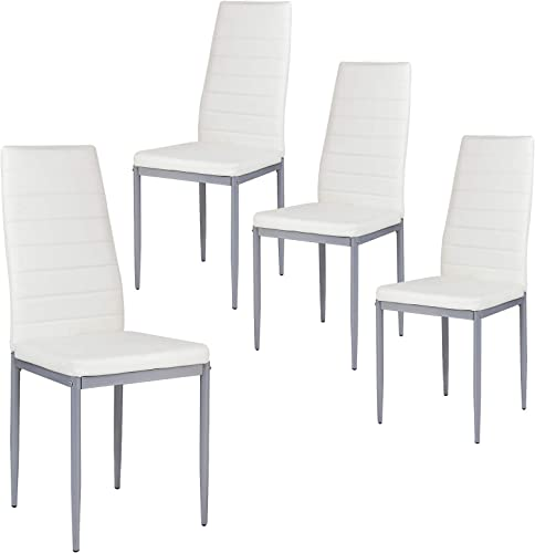 Giantex Set of 4 PU Leather Dining Side Chair