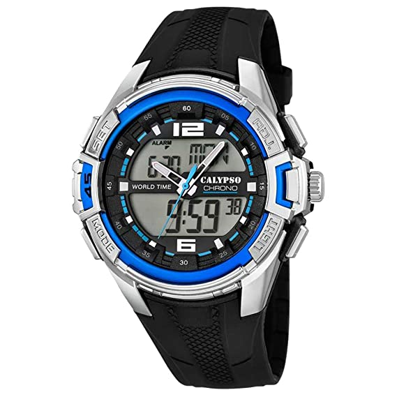 Reloj Calypso de hombre - Sport - Analog, Digital - Cuarzo - PU - d1uk5655/2: Amazon.es: Relojes