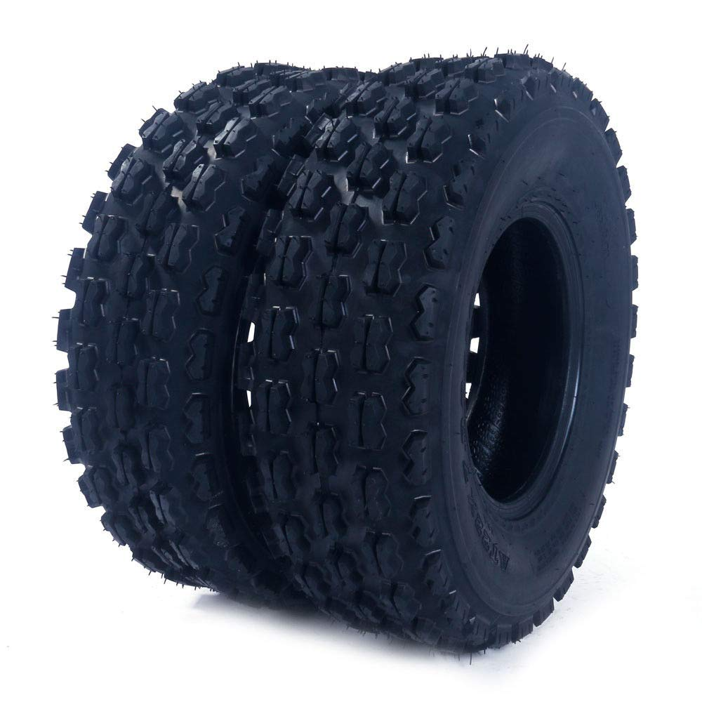 2Pcs MASSFX AT 19X7-8 4PR ATV/UTV Tires 16/7-8 Tubless Sport P327 Left, Right, Front 4PLY ATV Tires