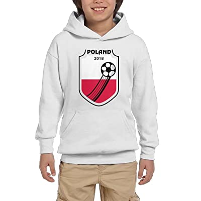 2018 Football Poland Boy Athletic With Pocket Hooded Crew Neck Pullover Sweatshirts