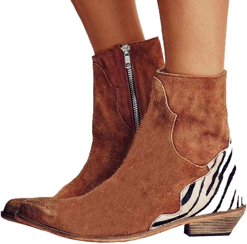 Whitegeese Women Ladies Autumn Shoes Fashion Mixed Colors Ankle Single Shoes Short Boots