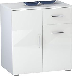 Kommode Weiss Hochglanz 50 Cm Tief Amazon De Baumarkt