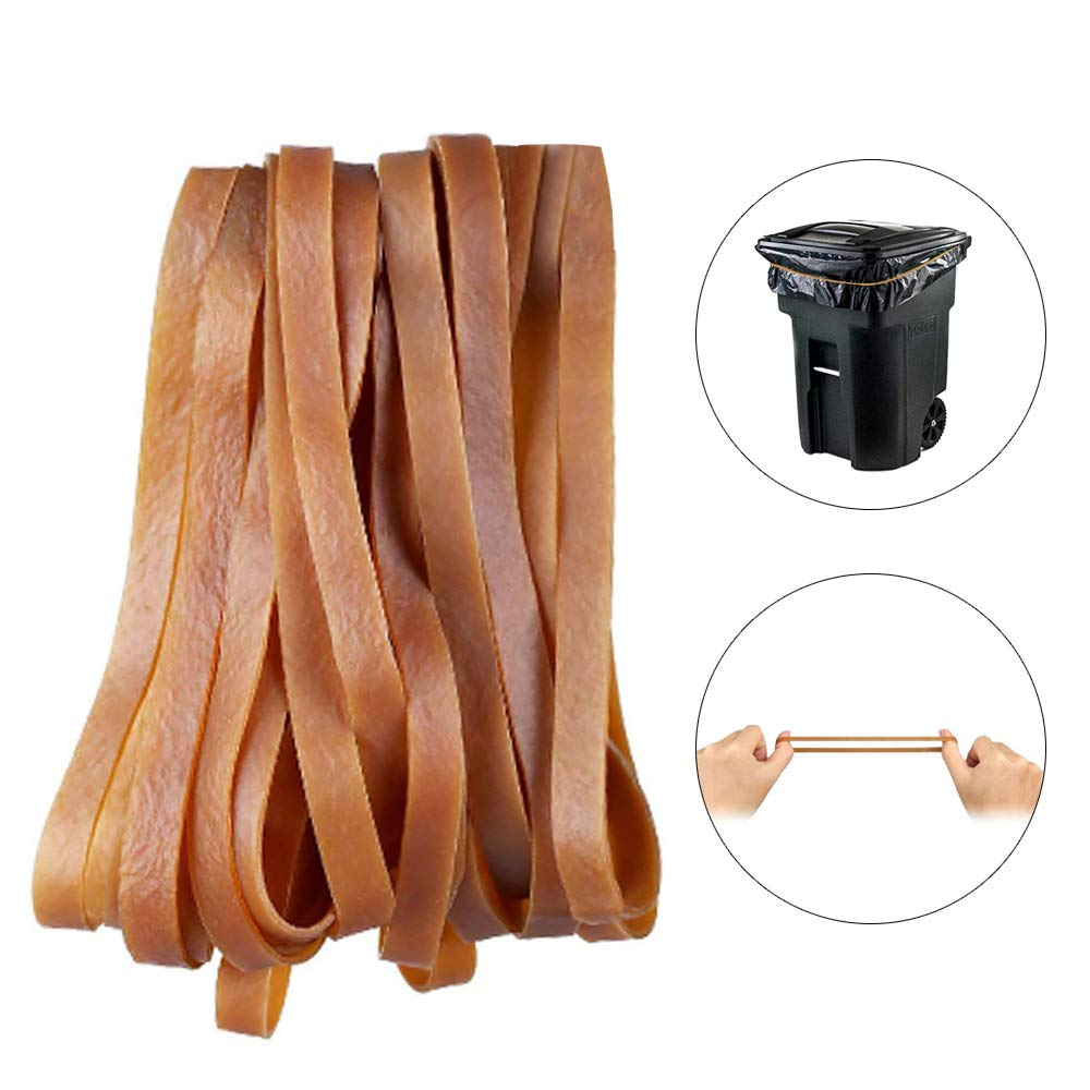 KINDPMA 60 Pcs 8 Large Rubber Bands Heavy Duty Trash Can Band Thick Elastic Rubber Bands for for File Folders Cat Litter Box Garbage Cans Office Supplies