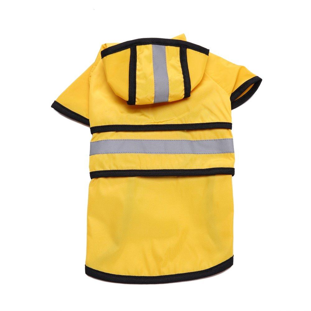 4XL Back Length25.6\ Sevendream Fashion Pet Rainy Days Slicker Yellow Raincoat