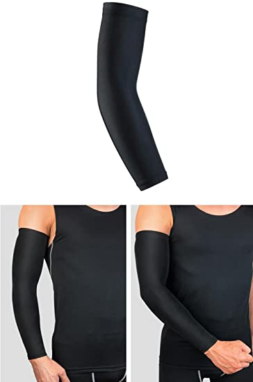 e6889b93d5 1PCS Breathable Quick Dry Sports Cooling Compression Long Arm Sleeves  Summer Sun Block UV Protection Sunscreen