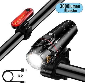 DOOK Luzde Bicicleta,Luz Bicicleta LED Recargable USB con 3000 ...