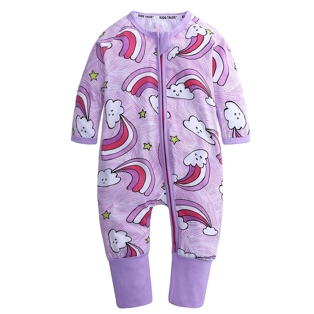 Kids Tales Baby Zipper Pajamas Infant Handed Footed Romper Cotton Sleepwear Fuzhou Shang Ku Trade Co. Ltd.