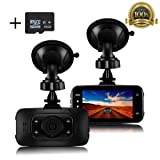"""Dash Cam, Senwow Car Camera (16GB SD Card Included) 2.7"""" LCD 1080P Full HD Video Recorder Blackbox Camcorder Dashboard DVR Built In G-Sensor, WDR, Loop Recording, Parking Monitor, Motion Detection, Night Vision"""