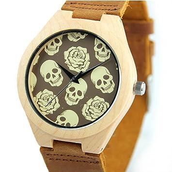 Xhyqs Relojes Clásicos Relojes De Cuero De Primera Calidad Relojes Casuales Relojes De Moda De Fantasmas Relojes De Madera Relojes De Hombre Relojes De ...