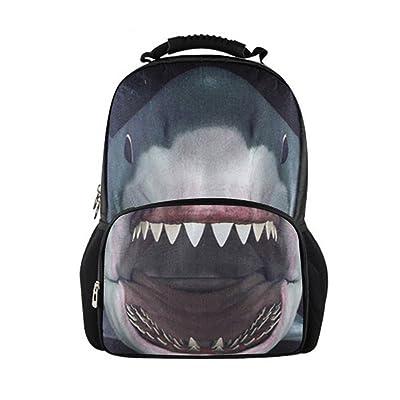 HUGS IDEA Personalized 3D Animals Print School Travel Shoulder Backpack