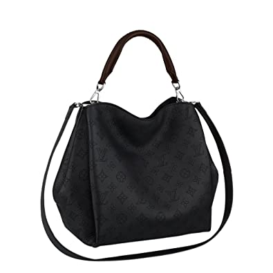 Louis Vuitton Mahina Calf Leather Babylone PM Noir Shoulder Handbag M50031  Made in France  Handbags  Amazon.com 2808ee5671fc7