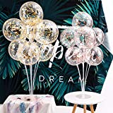 Tinabless Balloon Stand Kit 2 Sets of Clear Table