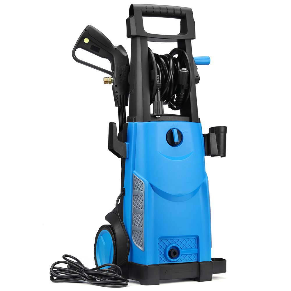SUNGOLDPOWER Electric High Pressure Washer Max 2400PSI 1.76 GPM with (5) Nozzle Adapter with Hose Reel Soap Dispenser Patio Cleaner by SUNGOLDPOWER (Image #2)