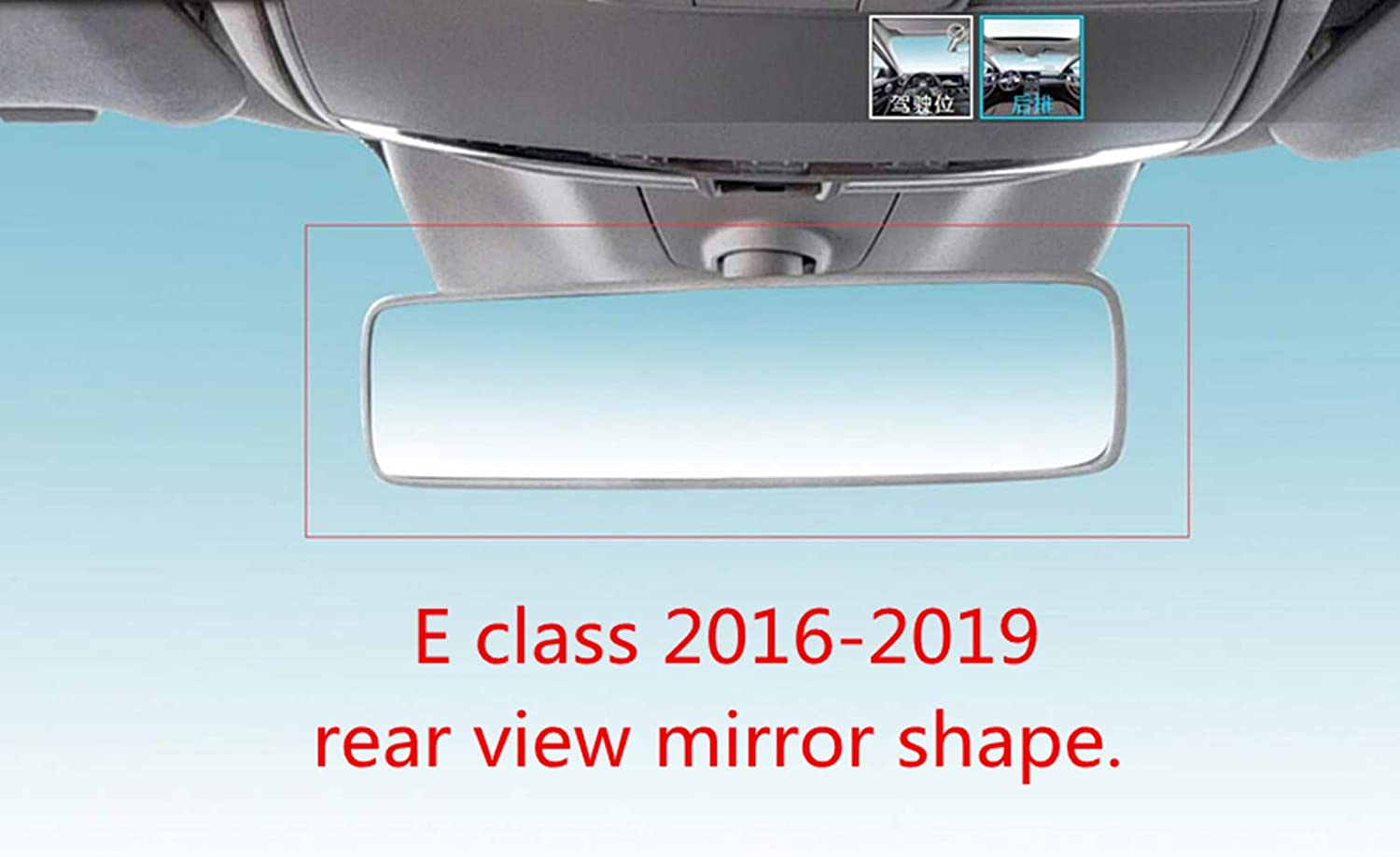 for C Class 2015-2018 YUWATON Fit for Mercedes Benz Bling Accessories C Class E Class CLA GLA GLC Car Interior Rearview Mirror Edge Rhinestone Decals Cover Car Interior Bling Accessories for Women