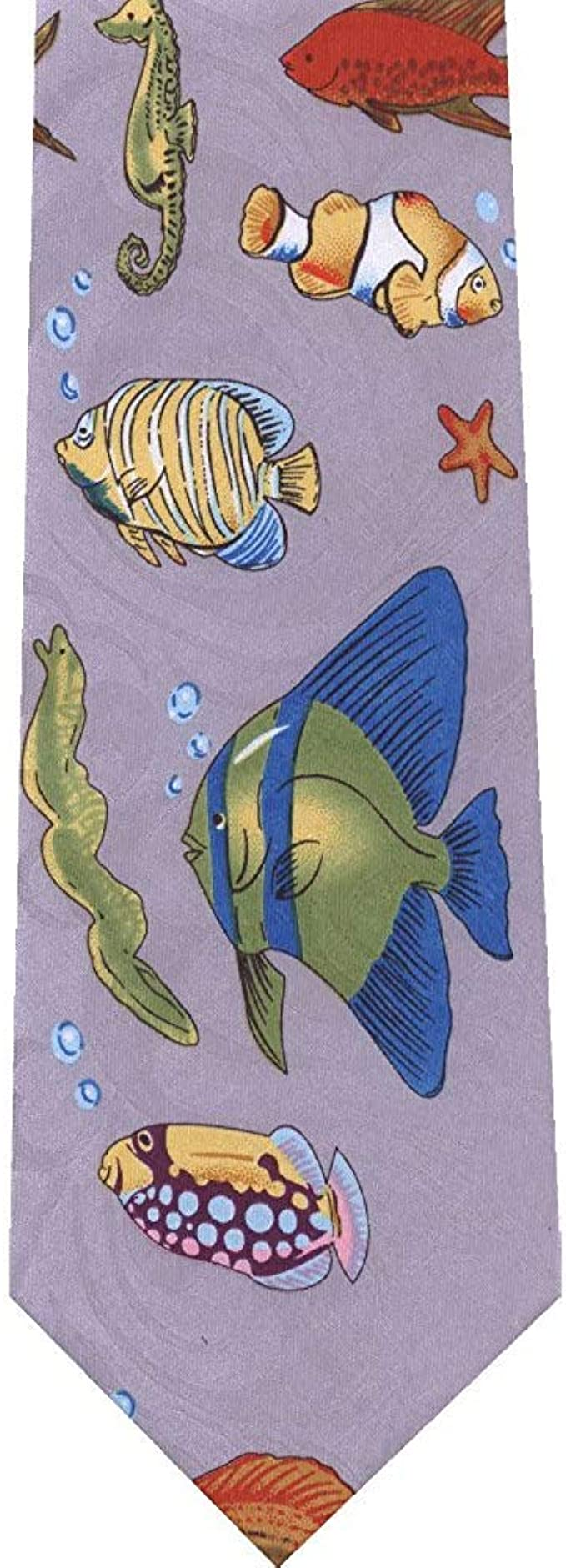 Warm Night Anguila de pez tropical en la nueva corbata gris de la ...