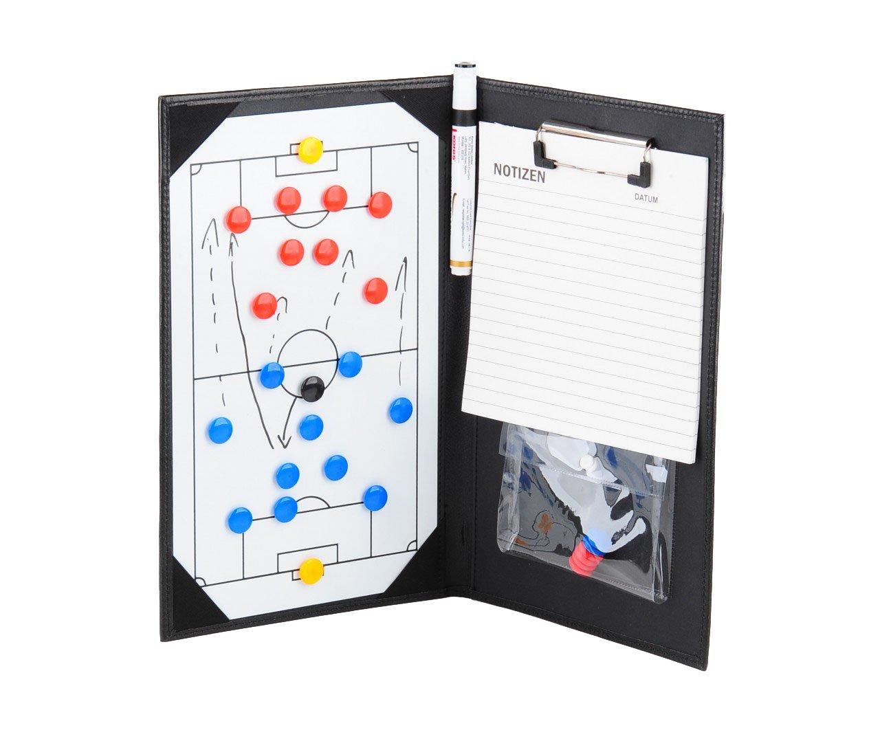 ELF Sports Handliche Magnet-Taktikmappe/Coachmappe 36x23cm inkl. Zubehör