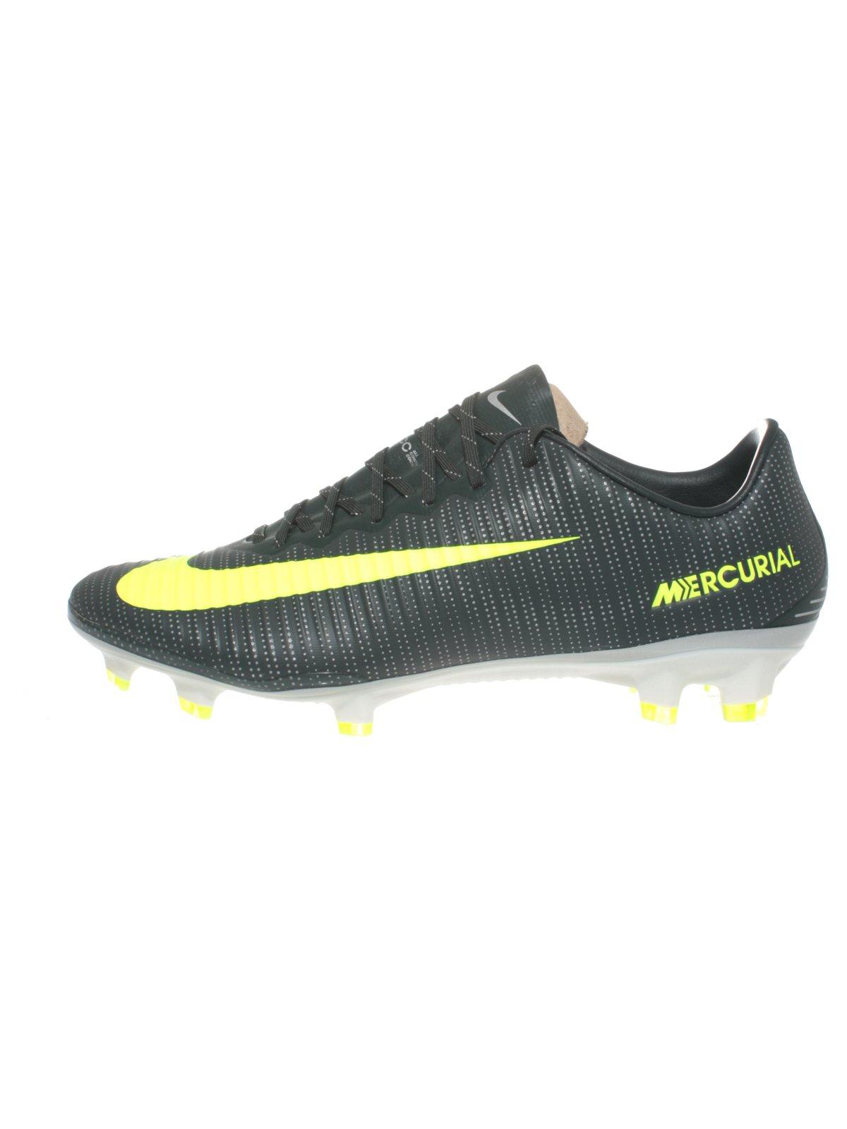 Nike Men's Mercurial Vapor XI CR7 FG Soccer Cleat (Sz. 11) Purple Dynasty, Bright Citrus
