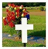 Solar Lighted Cross Memorial Light for Grave or Garden