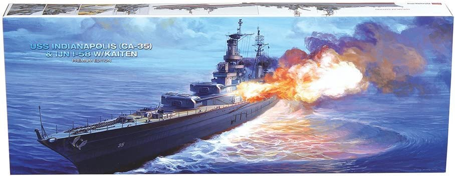 Academy Plastics Premium Edition Numbered Models von die Uss Indianapolis und Imperial Japanese Navy I-58 Submarine 1/350