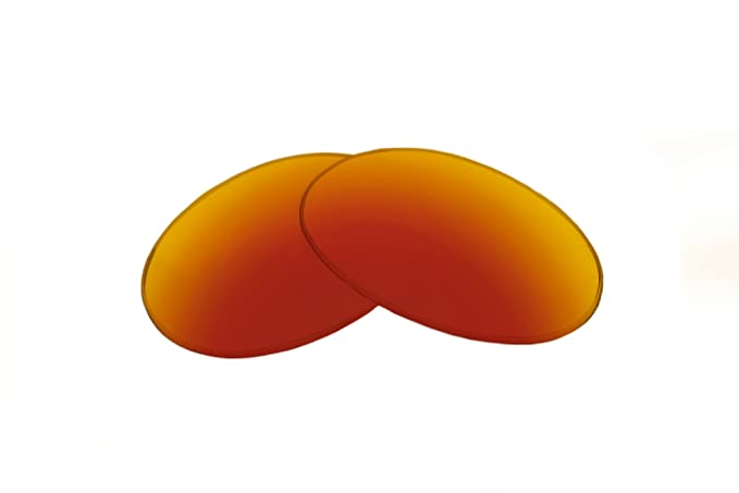 2fc38baa29 Amazon.com  SFx Replacement Sunglass Lenses fits Prada SPS 01R 58mm wide x  44mm tall (Ultimate Red-Orange Mirror Black Pair-Polarized)  Clothing