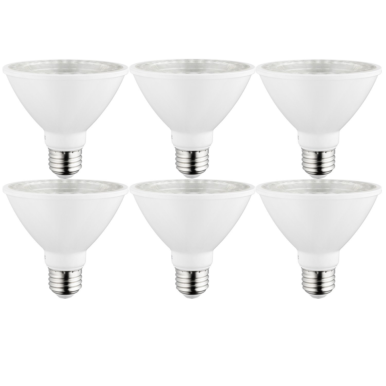 Sunlite 40979-SU LED PAR30 Short Neck Light Bulb, Dimmable, Energy Star 10 Watt, (75W Equivalent), Medium Screw (E26) Base 6 Pack 27K - Warm White 6