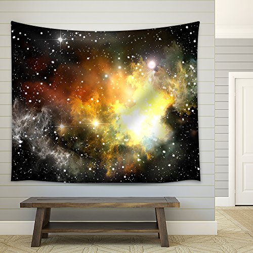 Colorful Space Nebula ( Abstract Universe Background ) Fabric Wall