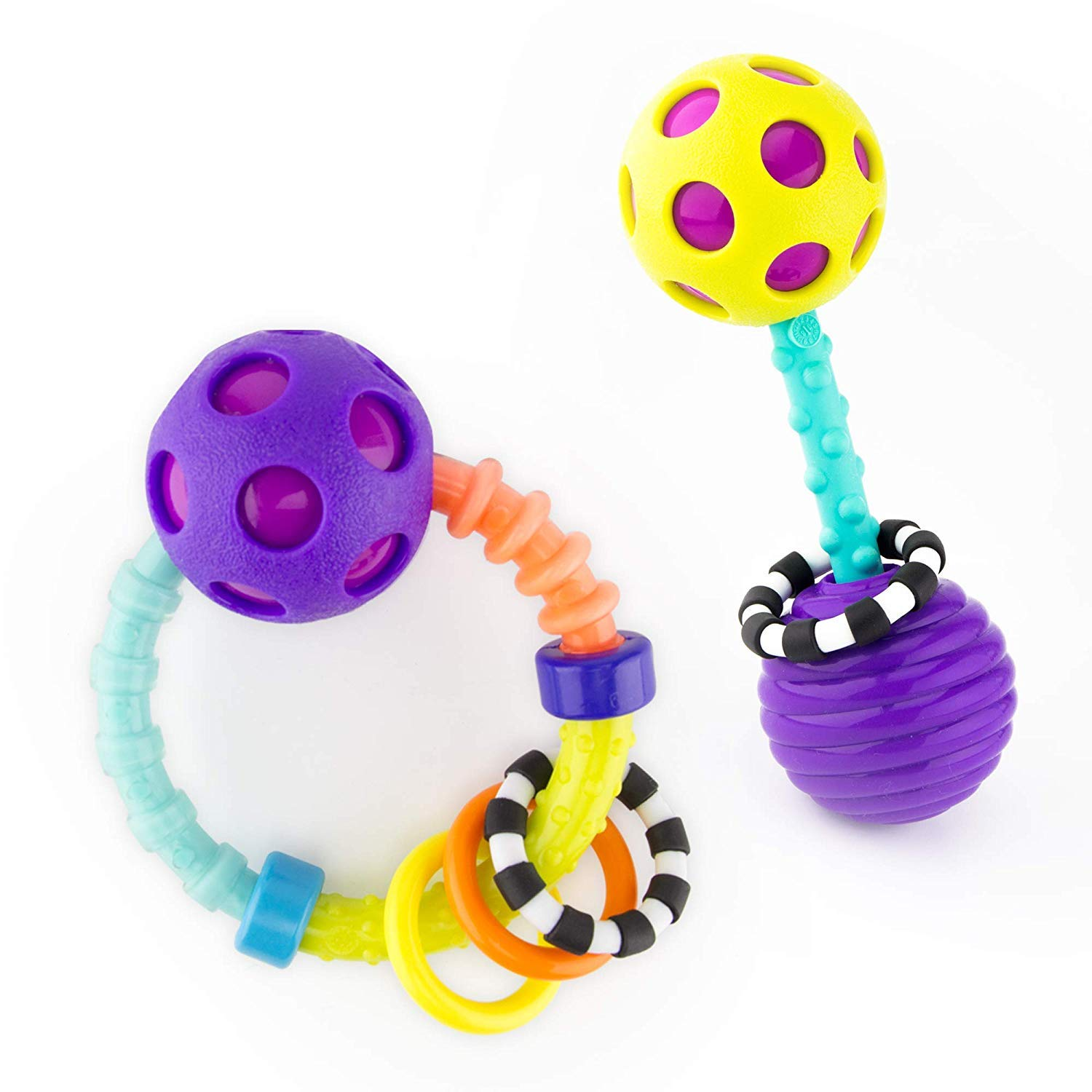 Sassy My First Bend & Flex Rattle Set - 2 Piece - for Ages 0+ Months