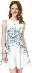 fc76a35252 Teeze Me Juniors Sleeveless Floral A-Line Skirt Dress