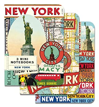 Cavallini Mini Notebooks New York 4 x 5, 3 Mini Notebooks