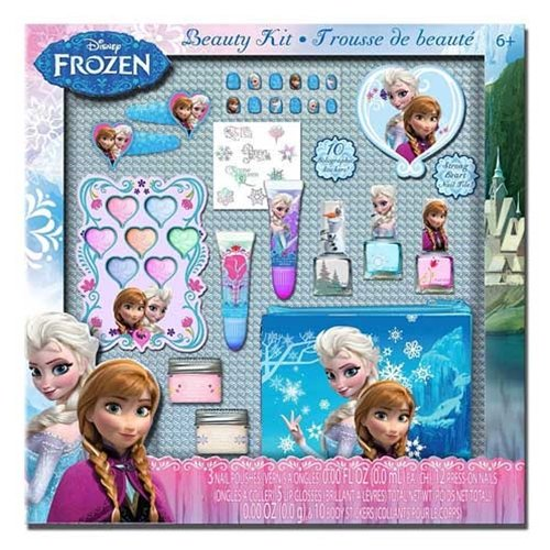 Townley Girl Disney Frozen Beauty Kit, Lip balms, glosses, press on nails, gems, stickers, barrettes & more