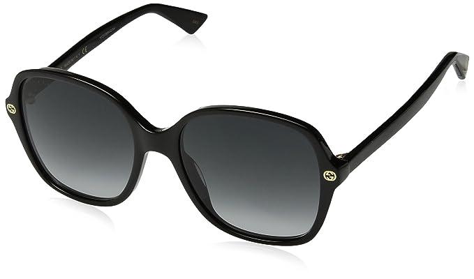 Amazon.com: Gucci gg0092s 001 negro gg0092s Plaza anteojos ...