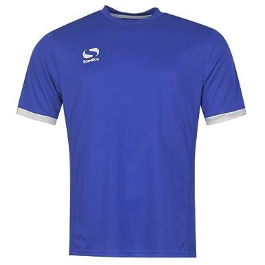 85cf277d966 Sondico Kids Fund Poly T Shirt Infants Boys Short Sleeve Sports Training  Tee Top Royal/White 5-6 Yrs: Amazon.co.uk: Clothing