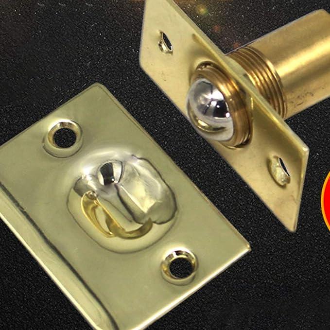 dorado DOITOOL reemplazo de la cerradura de la bola de la puerta para la despensa cierre de la puerta pestillo del gabinete invisible cierre del armario 2 piezas