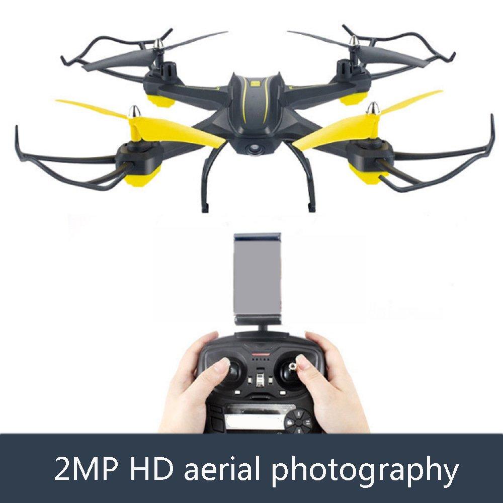 Reducción de precio RC Drone Con 2MP HD Cámara Gran Angular WIFI Live Video 2.4Ghz 4 Ejes Gyro Quadcopter Con Altitude Hold Modo Sin Cabeza Y 3D Flips One-Button Despegue Y Aterrizaje