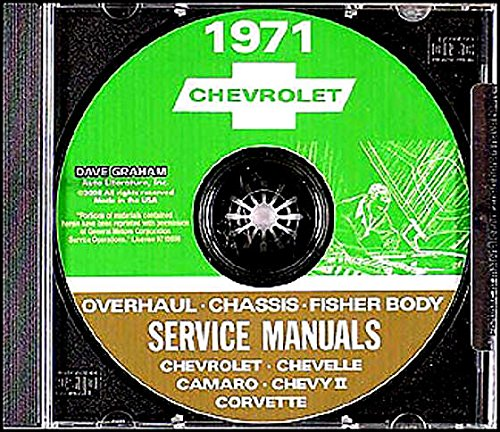 FOR OWNERS, MECHANICS & RESTORERS 1971 CHEVROLET FACTORY REPAIR SHOP & SERVICE MANUAL CD INCLUDES: Biscayne, Bel Air, Impala, Caprice, Monte Carlo, Chevelle, Malibu, El Camino, Concours, Wagons, Nova, Camaro, and Corvette Stingray. CHEVY 71 Chevrolet Malibu Differential