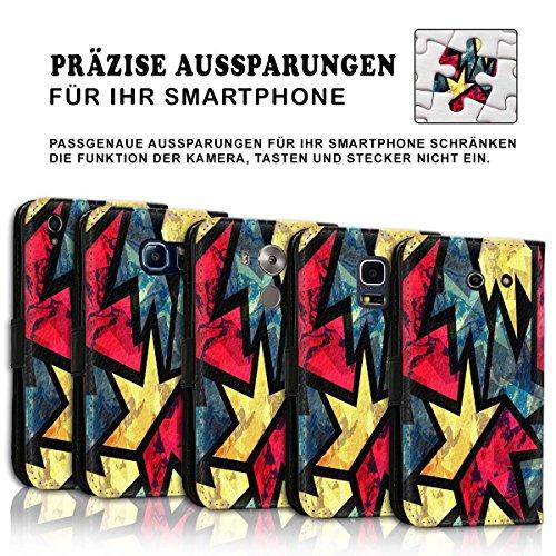Wallet Book Style Flip Handy Tasche Case Schutz Hülle Schale Motiv Etui für Apple iPhone 4 / 4S - Design Flip MVD84