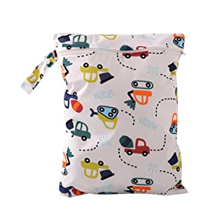 Wohlstand 2xBolsa de Pa/ñales Reutilizable Bolsa,beb/é impermeable Zipper Bolsa 30 x 36 cm,para beb/é reutilizable lavable Cloth Diaper Nappy bolso cambiador