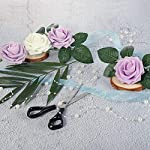 Meiliy-60pcs-Bulk-Rose-Leaves-Artificial-Greenery-Fake-Rose-Flower-Leaves-for-DIY-Wedding-Bouquets-Centerpieces-Party-Decorations-Rose-Vine-Wreath-Garlands-Supplies